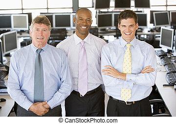 équipe, de, commerçants stock