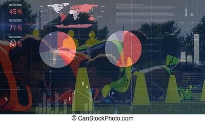 équipe, données, sportifs, formation, traitement