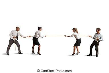 équipe, et, business, concurrence