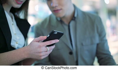 équipe, fonctionnement, business, smartphone