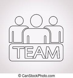 équipe, icône