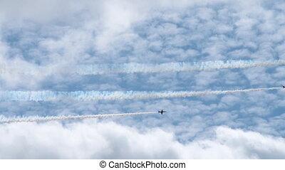 équipe, jet, air