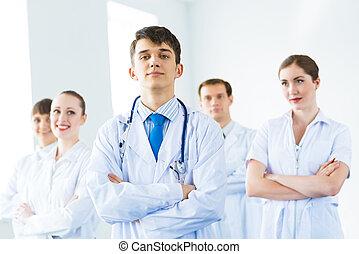 équipe, médecins