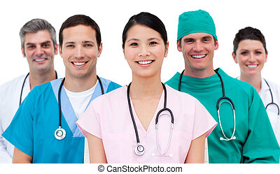 équipe, multi-etnic, monde médical