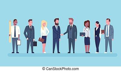 équipe, partenaires, concept, affaire, business, réussi, mains, hommes, accord, businesspeople, deux, secousse main, patron, secousse, ou