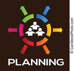 équipe, planification, gens