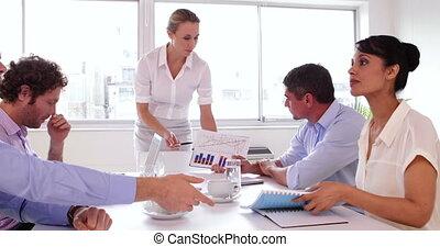 équipe, quoique, business, fonctionnement, séance