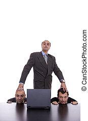 équipe, sien, concept, mal, patron
