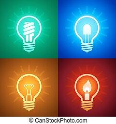 équipement, évolution, éclairage