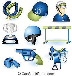 équipement, 3, sport, icônes