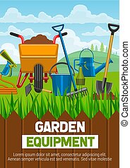 équipement, agriculture, outils jardinage