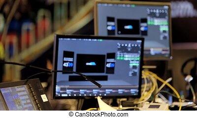équipement, audio, vidéo, progrès