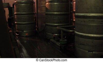 équipement, bière, brassage, usine