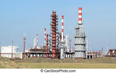 équipement, colonnes, refinery., fournaises, autre, distillation, canaux transmission