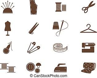 équipement, couture, icônes