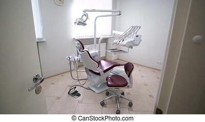 équipement, dentaire, clinique