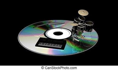 équipement, disque, musical