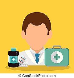 équipement, docteur médical