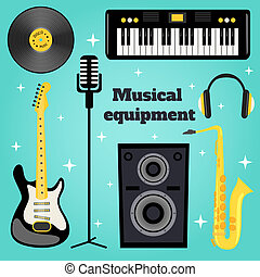 équipement, ensemble, musique
