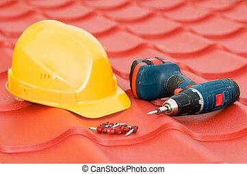 équipement, ensemble, toit