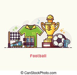 équipement, football, style de vie, football