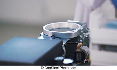 équipement, gros plan, monde médical, laboratoire