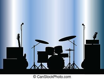 équipement, groupe rock