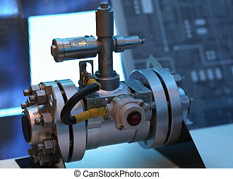 équipement, huile, haut, production, fin