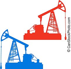 équipement, industrie, huile, pumpjack.