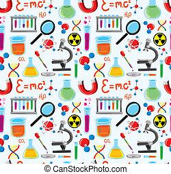 équipement, laboratorium, fond