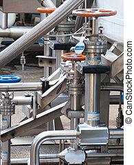 équipement, maniement, azote liquide