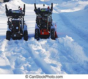 équipement, maniement, neige