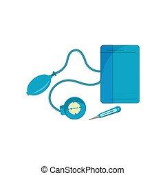 équipement, monde médical, icône