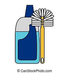 équipement, nettoyage, apparenté