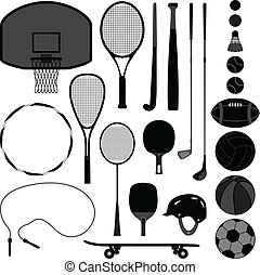 équipement, outillage, sport, balle