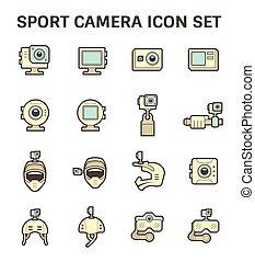 équipement, photographie, icône