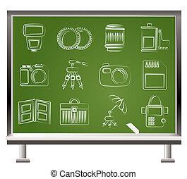 équipement, photographie, icons\\