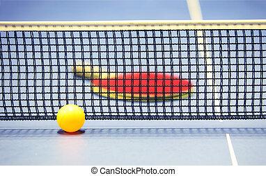 Equipment raquette boule tennis photographie de stock - Colle pour raquette de tennis de table ...