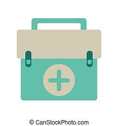 équipement, premier, kit, urgence, aide