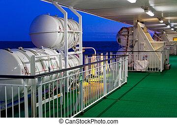 équipement, sauvetage, on-board