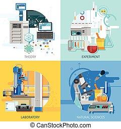équipement, science, concept, conception, 2x2