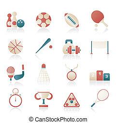 équipement, sport, icônes