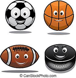 équipement sports, ensemble, icônes