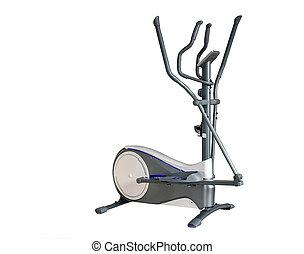 équipement sports, sur, a, blanc, arrière-plan.
