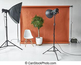équipement, studio photographie