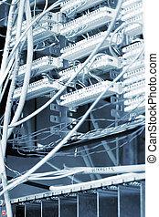 équipement, télécommunication, réseau, cables.