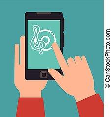 équipement, technologie, musique