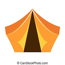 équipement, tente, camping, icône