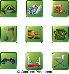 équipement, tourisme, icône