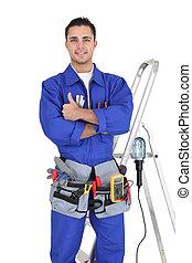 équipement, tout, sien, artisan